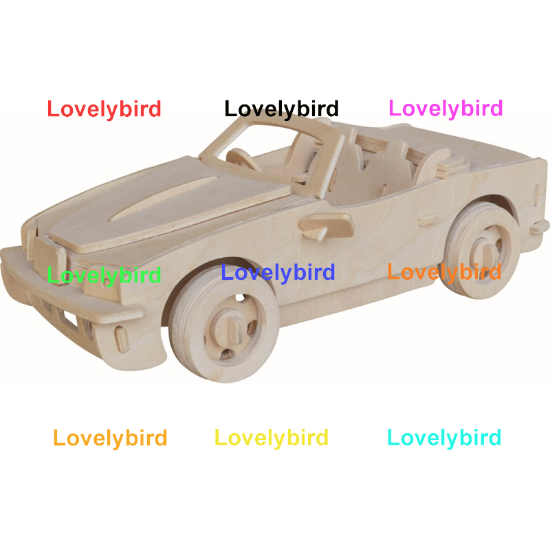 Lovelybird Toys 3d airplane puzzle supply for kids-1