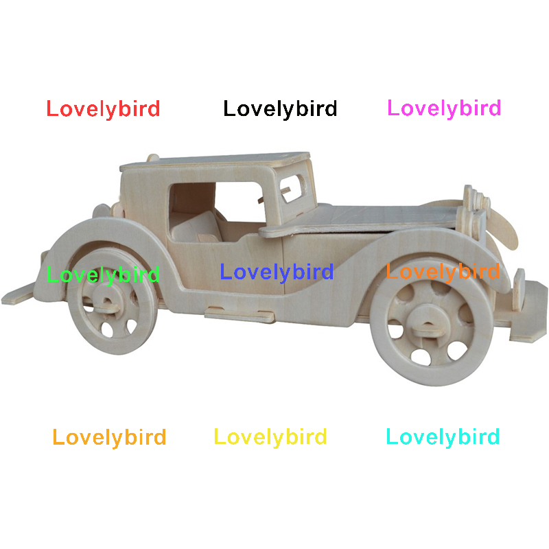 Lovelybird Toys wholesale 3d wooden car puzzle supply for kids-1