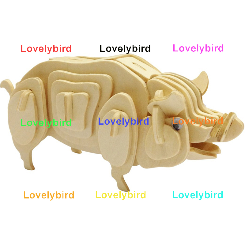 Lovelybird Toys 3d wooden puzzle animals manufacturers for sale-1
