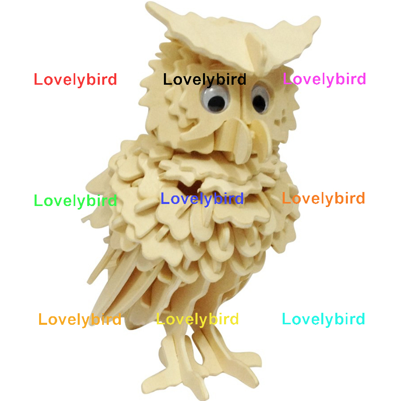 Lovelybird Toys 3d wooden animal puzzle supply for present-1