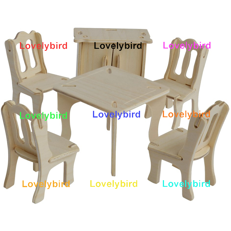 Lovelybird Toys 3d wooden puzzle dollhouse furniture manufacturers for game-1