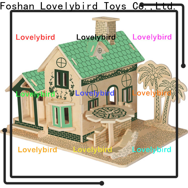 Lovelybird Toys 3d woodcraft puzzle suppliers for adults