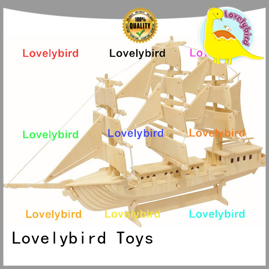 Lovelybird Toys latest 3d wooden puzzle ship factory for present