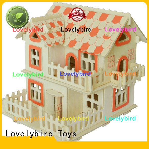 Lovelybird Toys best 3d wooden house puzzles supply for business