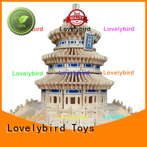 Lovelybird Toys wholesale 3d wooden puzzle house suppliers for sale
