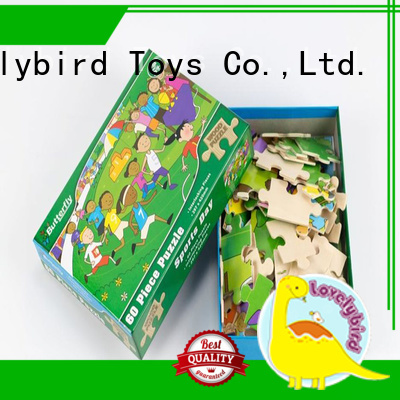 wooden puzzles for kids with poster for activities Lovelybird Toys