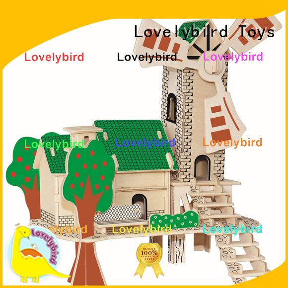 interesting 3d wooden house puzzles supply for kids