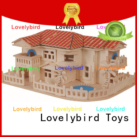 Lovelybird Toys new 3d wooden puzzle house supply for business