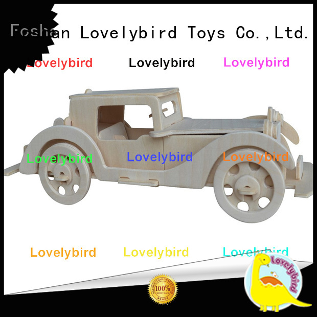 custom 3d wooden puzzle car supply for present