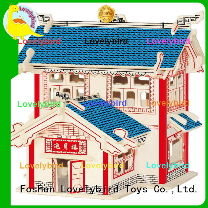 Lovelybird Toys good selling 3d wooden puzzle house suppliers for adults