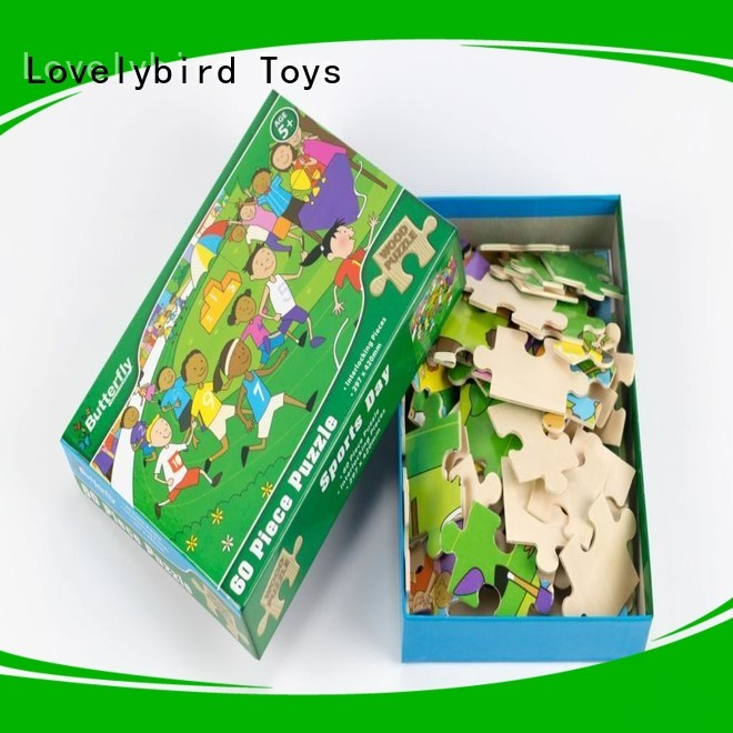 new wooden puzzles for kids with poster for adult