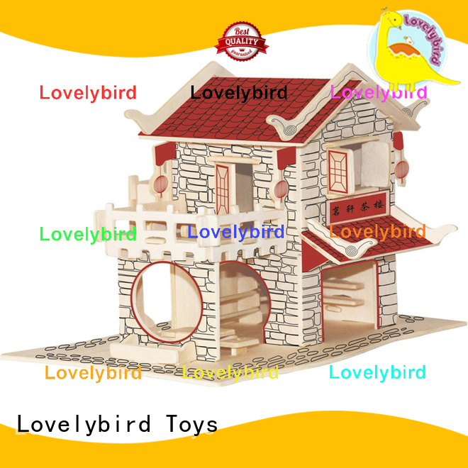 Lovelybird Toys interesting 3d wooden puzzle house suppliers for sale