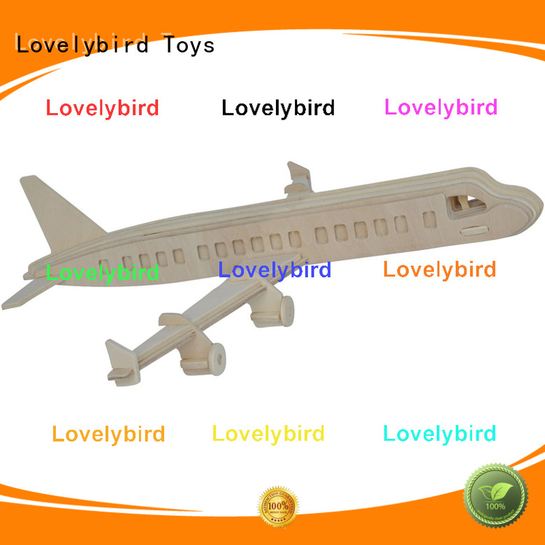 Lovelybird Toys 3d airplane puzzle factory for business