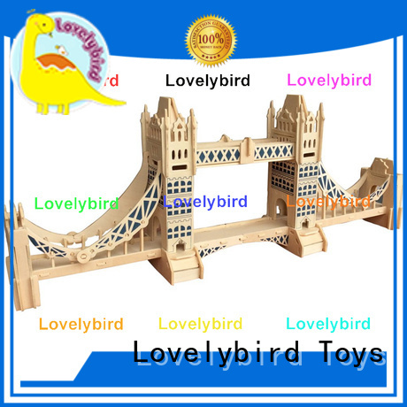 custom 3d wooden puzzle house factory for kids