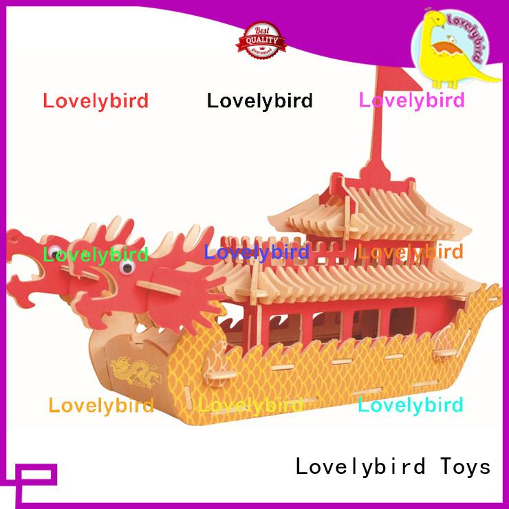 Lovelybird Toys custom 3d wooden car puzzle supply for kids