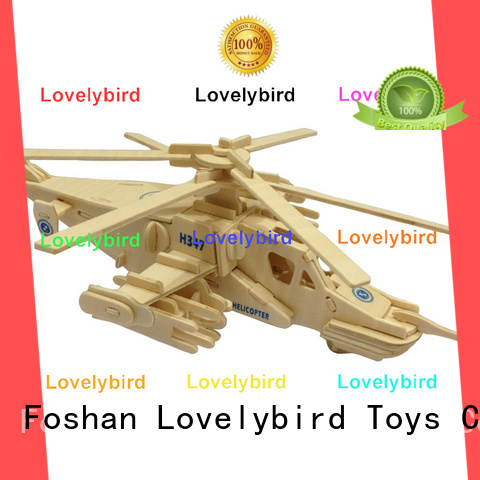 Lovelybird Toys wholesale 3d puzzle military factory for kids