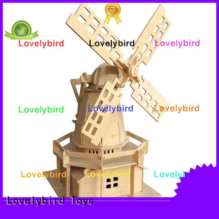 interesting 3d wooden puzzle house supply for present