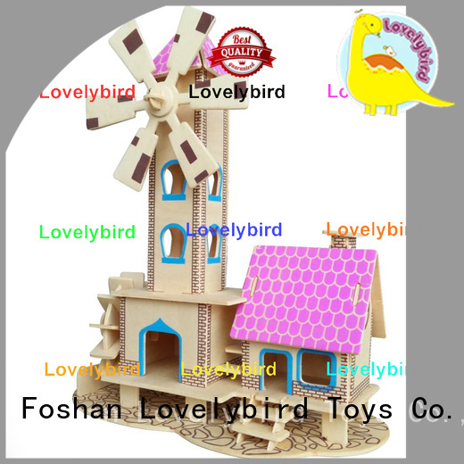 Lovelybird Toys hot sale 3d building puzzle factory for present