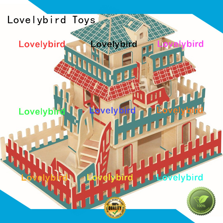 Lovelybird Toys hot sale 3d wooden puzzle house company for present