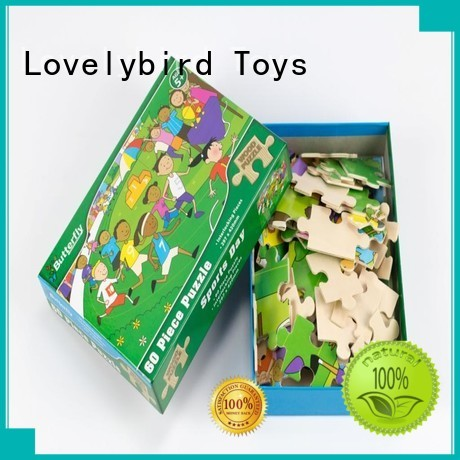 Lovelybird Toys high quality wooden puzzles for kids with frame for entertainment