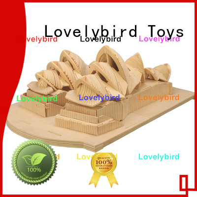 Lovelybird Toys new 3d wooden puzzle house company for present