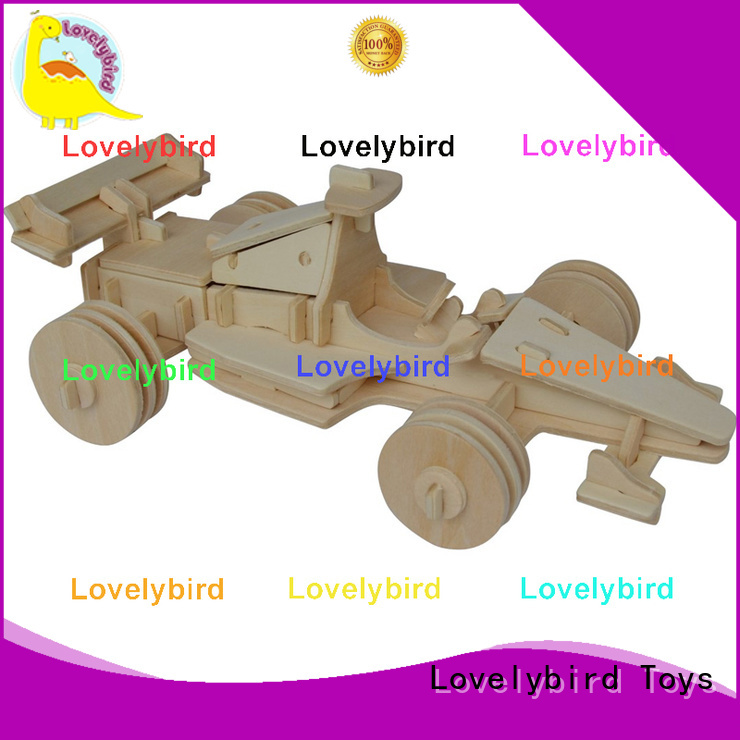 Lovelybird Toys 3d wooden puzzle car supply for entertainment