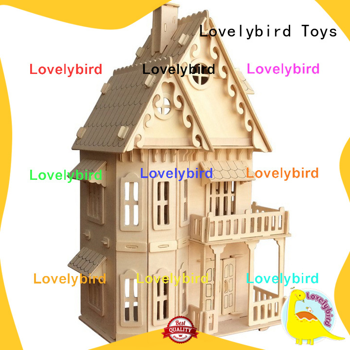 Lovelybird Toys 3d wooden puzzle house suppliers for present