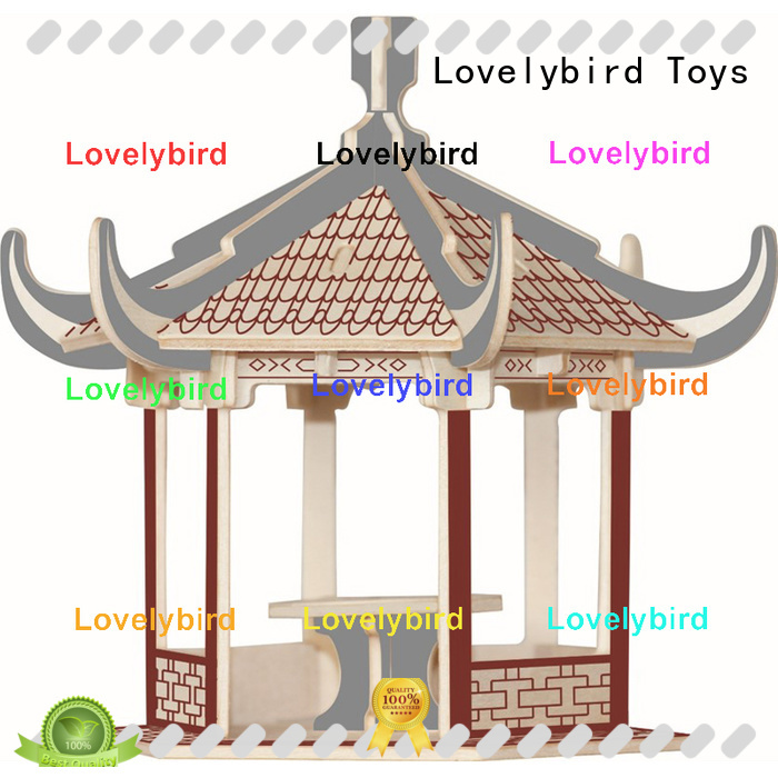 custom 3d wooden house puzzles supply for kids