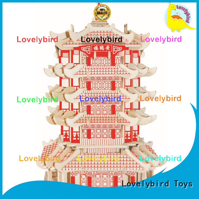 Lovelybird Toys good selling 3d wooden puzzle house supply for kids