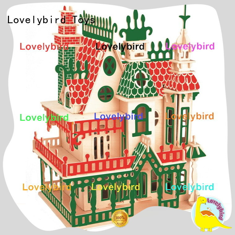 Lovelybird Toys latest 3d wooden puzzle house manufacturers for present