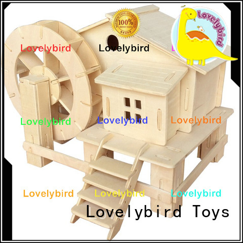 Lovelybird Toys interesting 3d wooden puzzle house company for kids