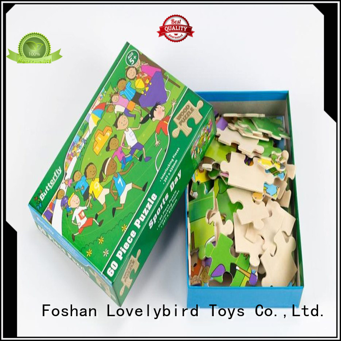 Lovelybird Toys wooden puzzles for toddlers with poster for entertainment