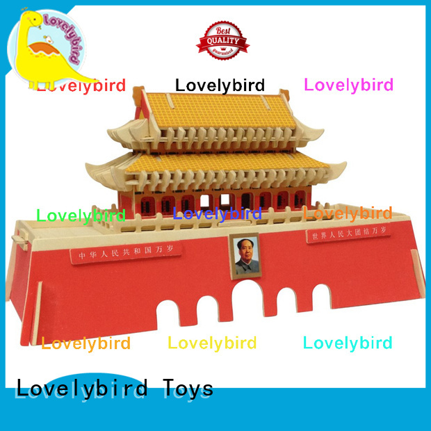 Lovelybird Toys hot sale 3d wooden house puzzles supply for kids