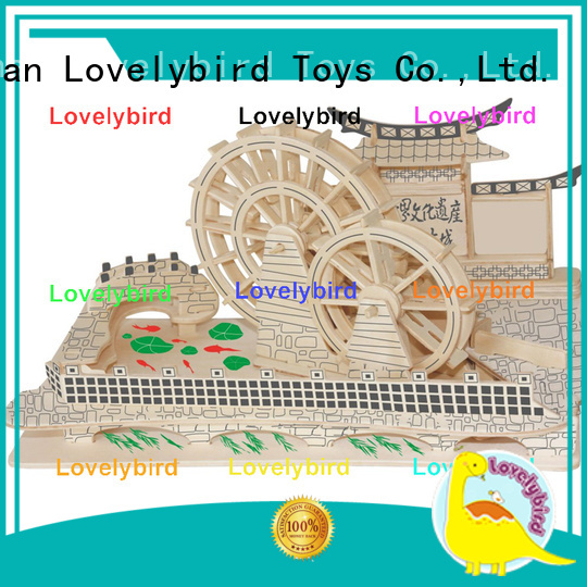 Lovelybird Toys new 3d wooden house puzzles manufacturers for kids