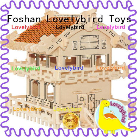 Lovelybird Toys new 3d wooden puzzle house factory for adults