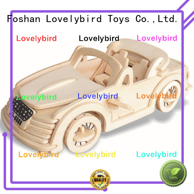 Lovelybird Toys best 3d wooden puzzle car factory for present