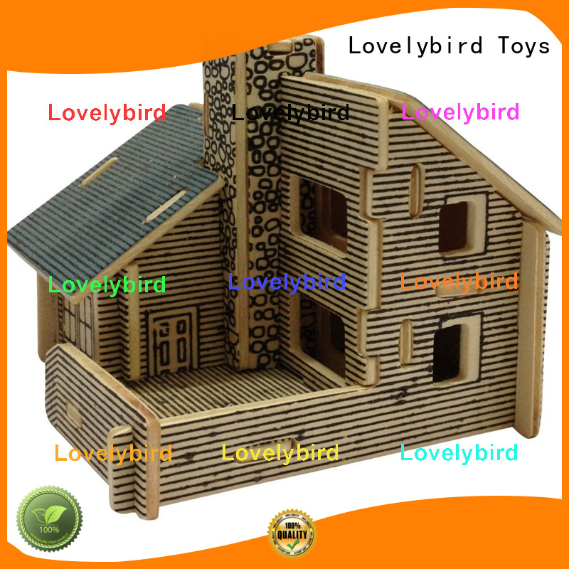 Lovelybird Toys top 3d wooden puzzle house factory for business