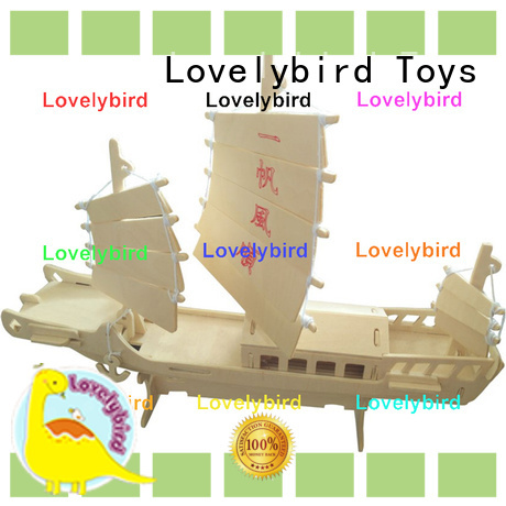 Lovelybird Toys 3d wooden puzzle ship supply for kids