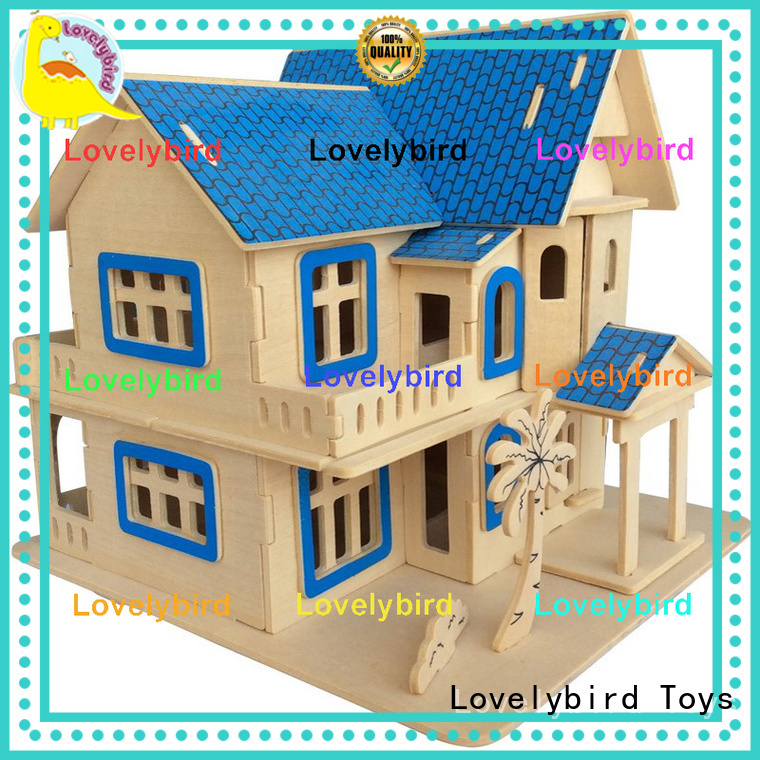 Lovelybird Toys wholesale 3d wooden puzzle house suppliers for present