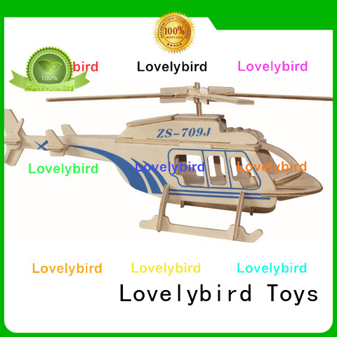 Lovelybird Toys 3d airplane puzzle company for adults