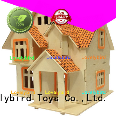 Lovelybird Toys hot sale 3d wooden house puzzles supply for business