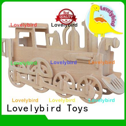 Lovelybird Toys custom 3d wooden puzzle ship factory for kids