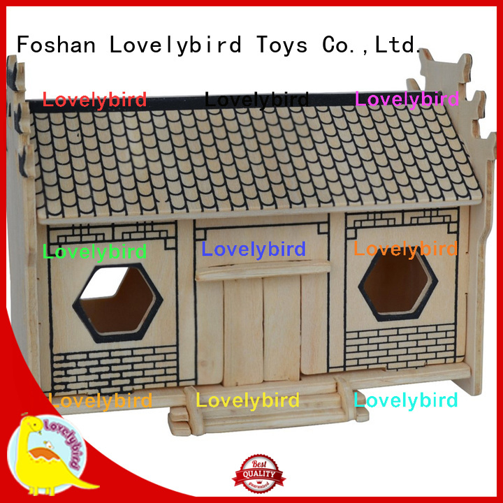 Lovelybird Toys 3d wooden puzzle house supply for kids
