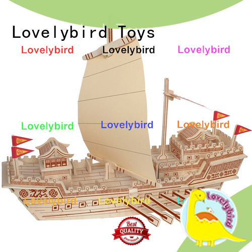 Lovelybird Toys 3d wooden puzzle ship manufacturers for business