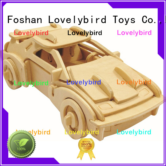 Lovelybird Toys 3d airplane puzzle factory for present