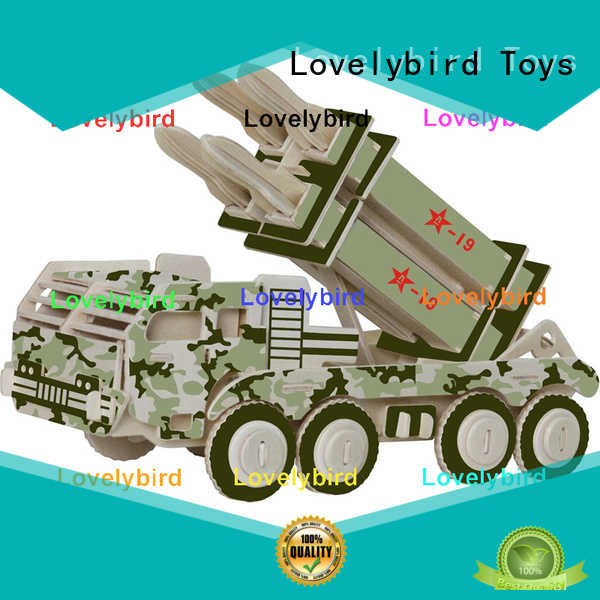 Lovelybird Toys custom 3d puzzle military suppliers for kids